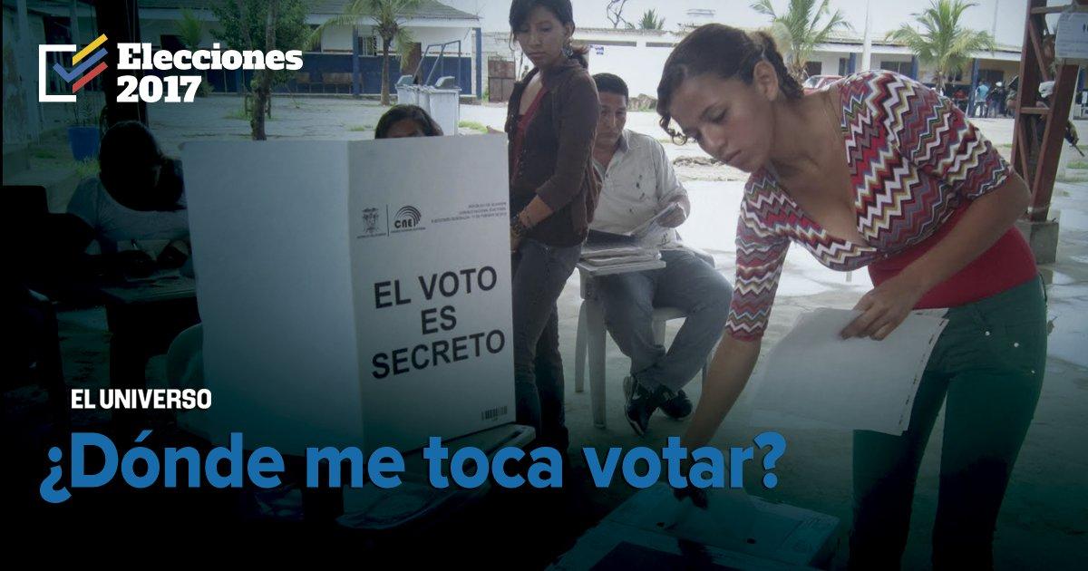 #elecciones2017 Consulte su lugar de votación y si es miembro de mesa....
