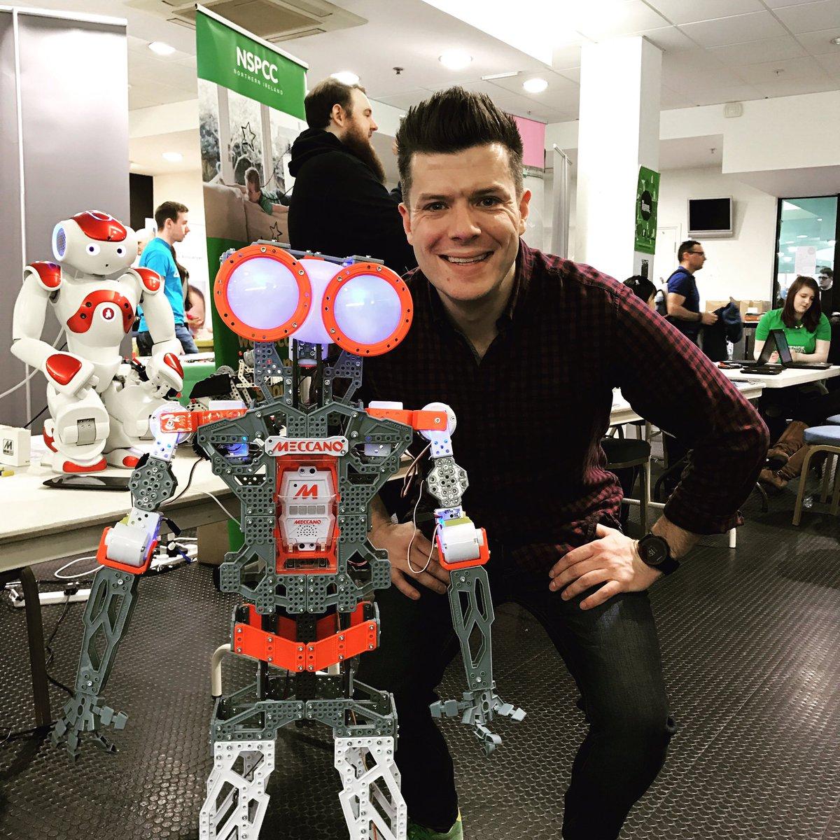 Wayne Denner and Meccano robot