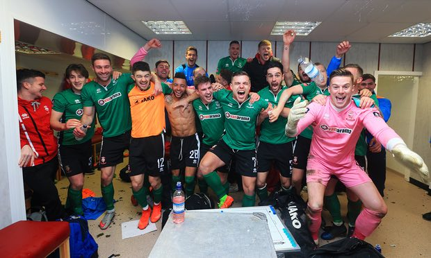 First time since 1914. Enjoy your moment lads. @LincolnCity_FC  @TheNationalLge