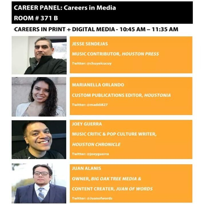 Our session today: Careers in Media with @joeyguerra @chuyelcucuy @maddi827 & @Juanofwords at 10:45am #CEDHou https://t.co/wYf3mDYaCk