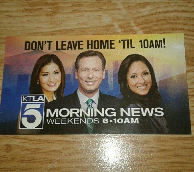 @chrisburrous @LynetteRomero @libertechan  #KTLA   Good Morning to All at the #1 NOT FAKE NEWS STATION IN THE WORLD Don&#39;t leave &#39;til 10am <br>http://pic.twitter.com/iUTsPJBrjU