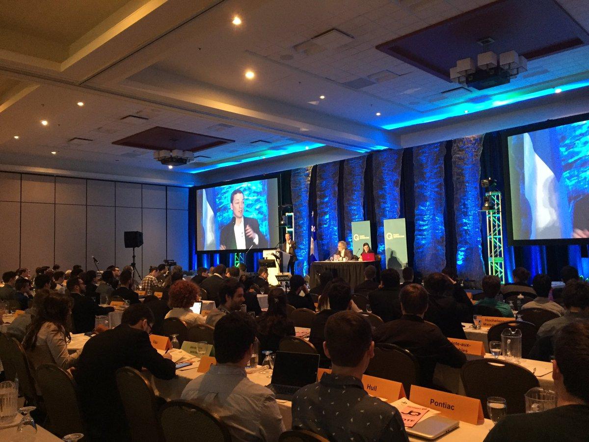 La #victoire du @partiquebecois en 2018 passe par nos jeunes! Audace &amp; innovation au #congrèsCNJPQ ! @JFLisee @CNJPQ @FPlourdePQ #PQ #polqc<br>http://pic.twitter.com/4EIJ2JMKNS