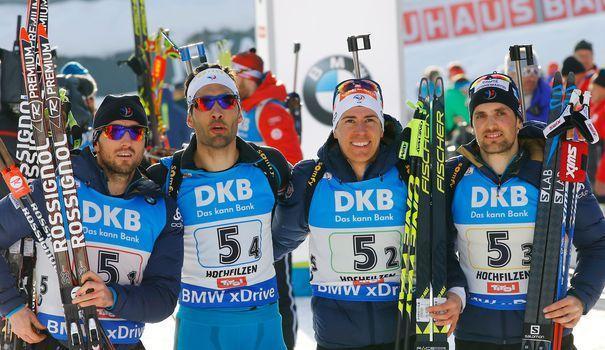 cheapest price new products nice cheap Biathlon le relais hommes français sacré vice champion du ...