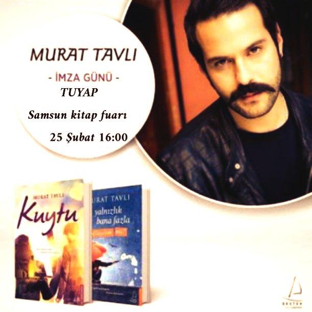 Oyuncu, yazar @MRTTVL  25 şubat'ta Samsun kitap fuarına geliyor. Sonra...
