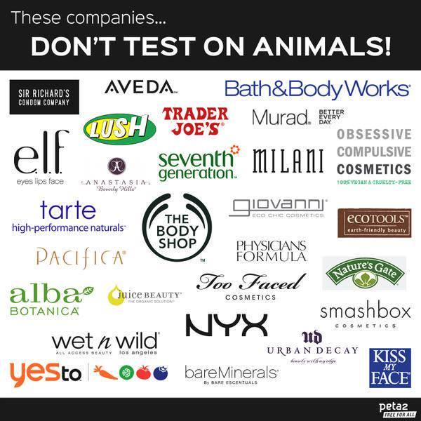 RT @peta2: There's NO excuse for testing on animals! Please, ALWAYS shop #CrueltyFree ❤️ https://t.c