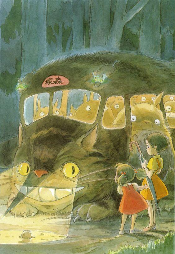 Illustration de Hayao Miyazaki tirée de l&#39;album l&#39;Art de Mon Voisin Totoro Amazon :  http:// amzn.to/2lhHLGw  &nbsp;    #Totoro #Ghibli #HayaoMiyazaki<br>http://pic.twitter.com/Hr90K0fdJ2