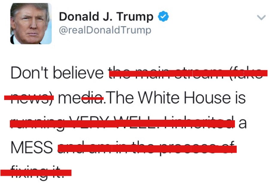 .@realDonaldTrump Fixed your tweet. Made it more accurate.