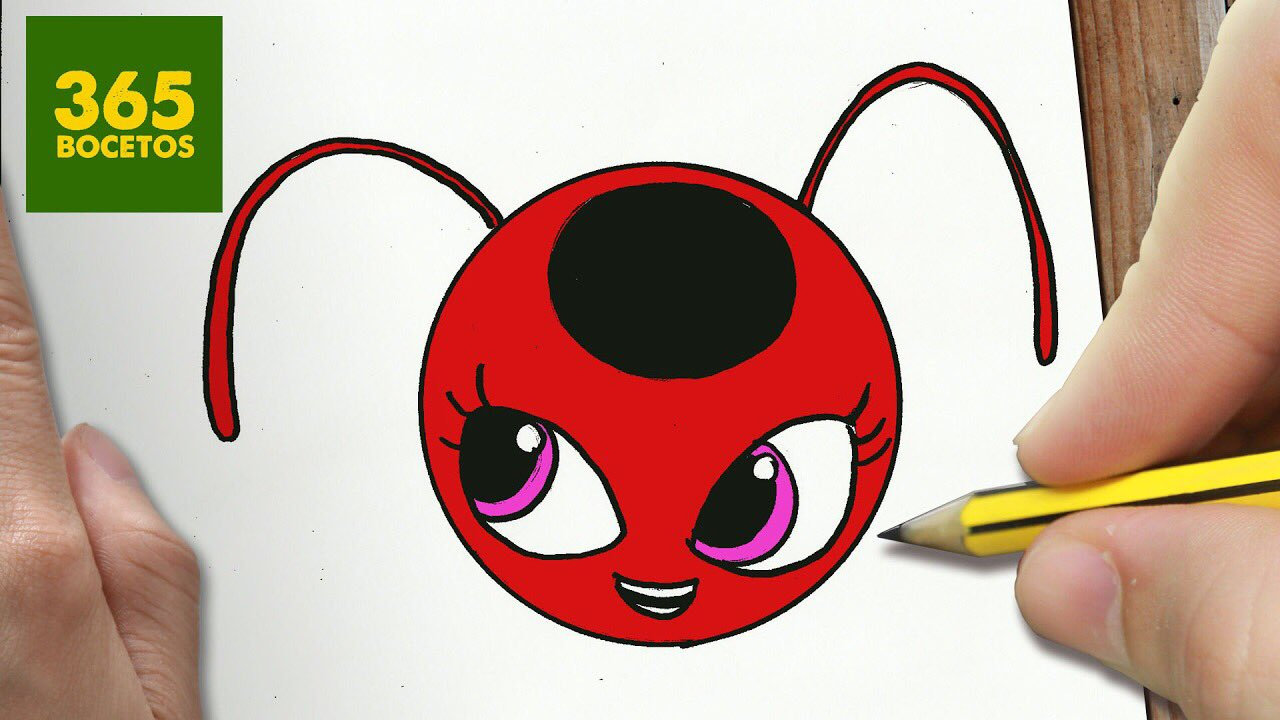 """365 BOCETOS On Twitter: """"Hoy Dibujamos A Tikki De Ladybug Con Unos Pasos Súper Fáciles, Aquí"""