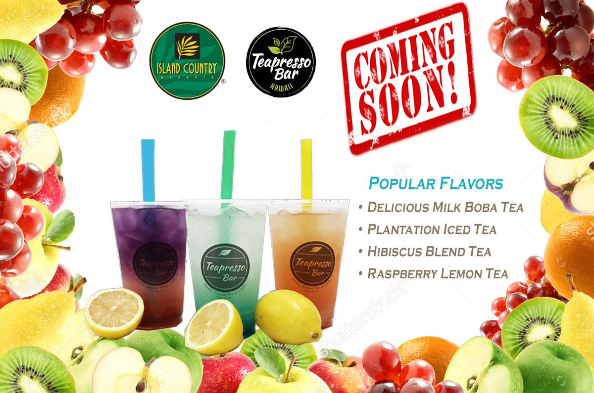 Abc Stores On Twitter New Teapresso Opening In Island Country Market In Koolina Quench Your Thirst With Delicious Bubble Drinks Teas And Smoothies Coming Soon Https T Co Xwap9jxt5j