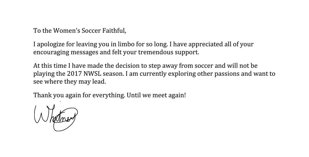To the Women's Soccer Faithful... https://t.co/Ngqm1NX1zi