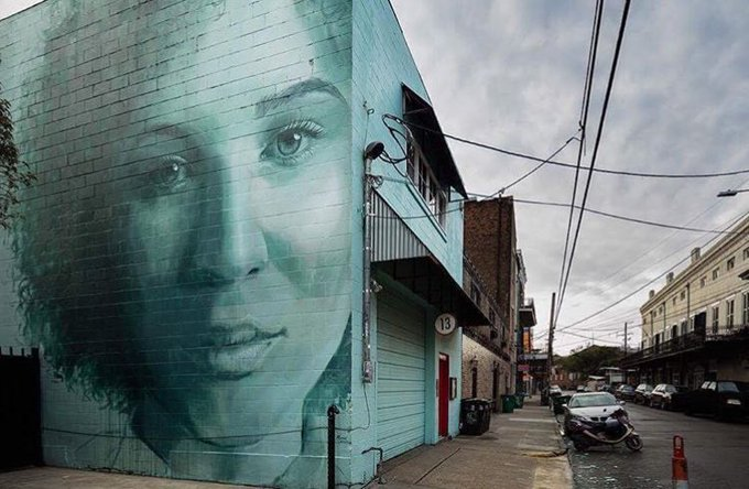 Street Art by RONE in New Orleans   #art #mural #arte #streetart