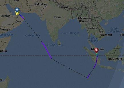 QF10 DXB-MEL engine shutdown, diverted to Singapore, reports @avherald