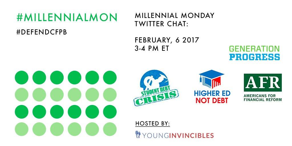 Get ready for #MillennialMon starting at 3pm ET! https://t.co/G3d6VsKk5J