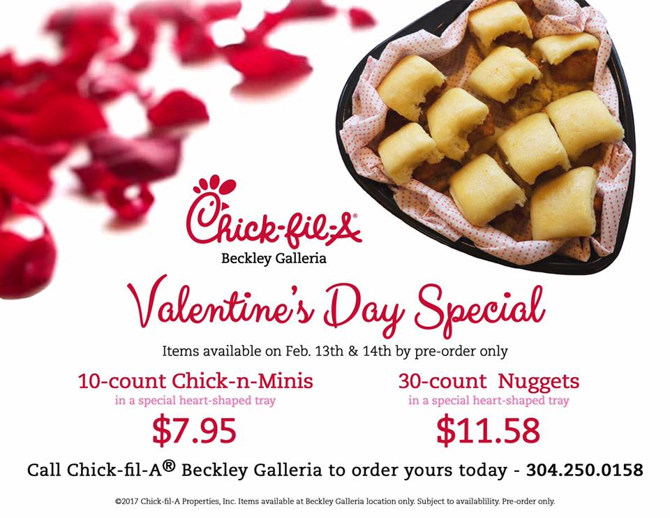 Chick Fil A Breakfast Tray New ChickfilA Beckley On Twitter Exciting Valentine's Day Special At