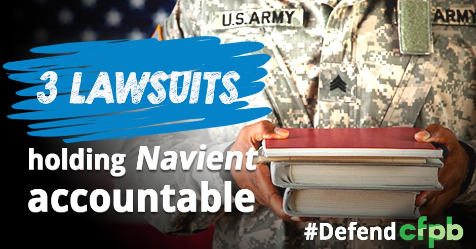 A4: @CFPB sued @Navient for tons of abuses. The most shameful, destroying the credit of disabled vets #MillennialMon https://t.co/q6uHqcZAYu https://t.co/9jjsKfs8s8