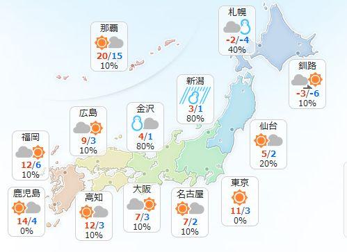 【2月7日(火)】北海道と東北は日本海側を中心に雪で、吹雪く所もある見込みです。北陸も雪や雨が降るで…