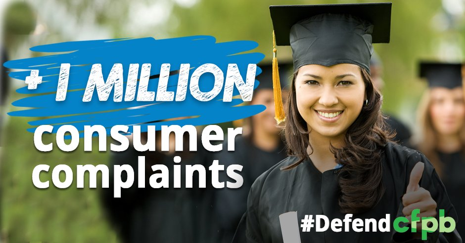 A3: @DebtCrisisOrg members share their student loan complaints with @CFPB. You can too: https://t.co/85ArOu2H1D #MillennialMon #DefendCFPB https://t.co/buv7g5qUQ3