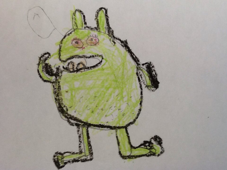 We love your book,s @EliseGravel. This is my monster By Cole. https://t.co/5cQMyQ1U5d