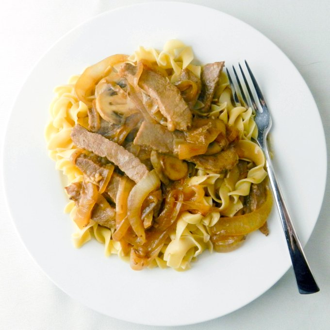 Lucious Beef Stroganoff and Noodles