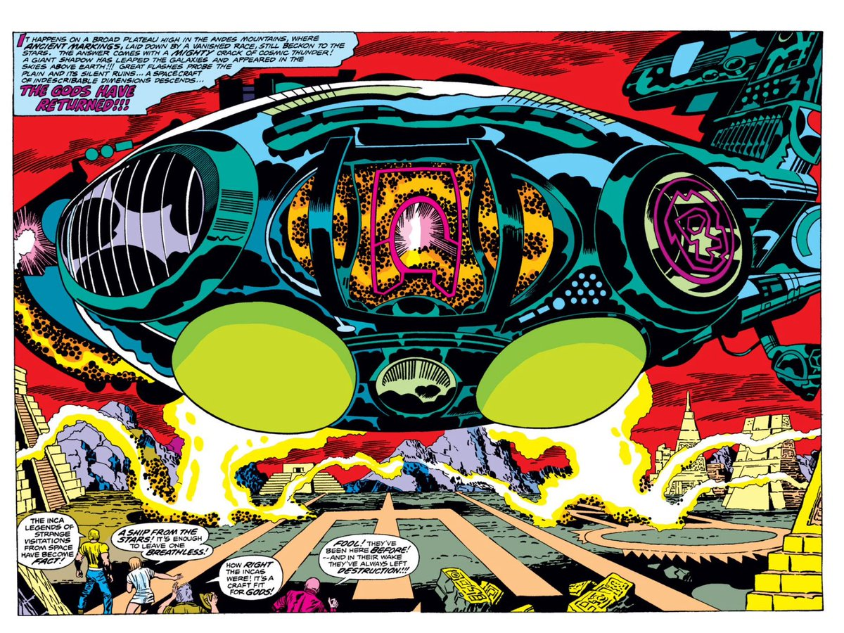 Cool Comic Art On Twitter The Eternals Double Page Spreads By Jack Kirby