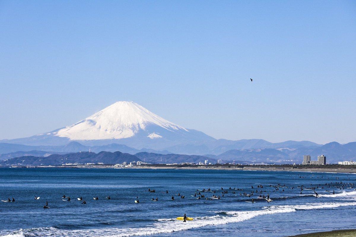 (´3`)oO(富士さんに見送られながら仕事(東京)へ。  #つるカメラ #藤沢