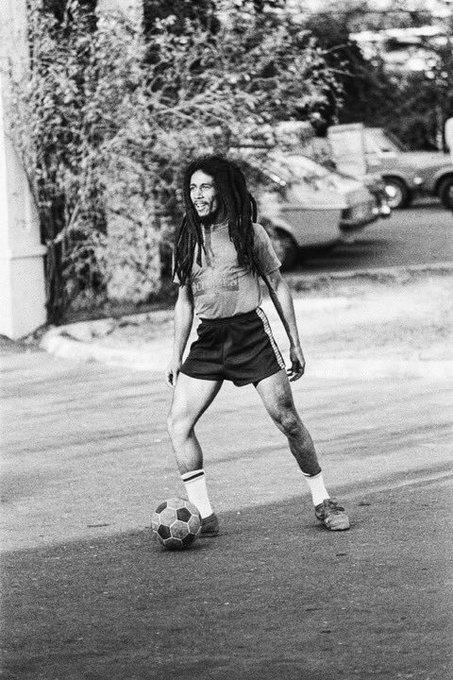 "\""Football is freedom.\""  Happy Birthday Bob Marley!"