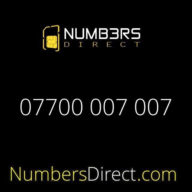 07700 007 007 (£35,000) #numbers #mobilenumbers #simcard #specialnumbers #exclusivenumbers #numbersdirect #jamesbond #bond #007 #astonmartinpic.twitter.com/wjmolQTmTj