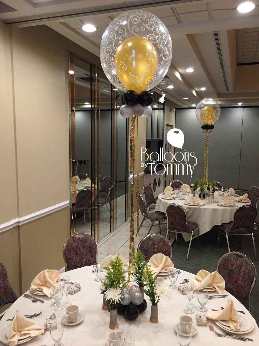 Balloons by Tommy on Twitter Surprise 80th birthday balloon decor