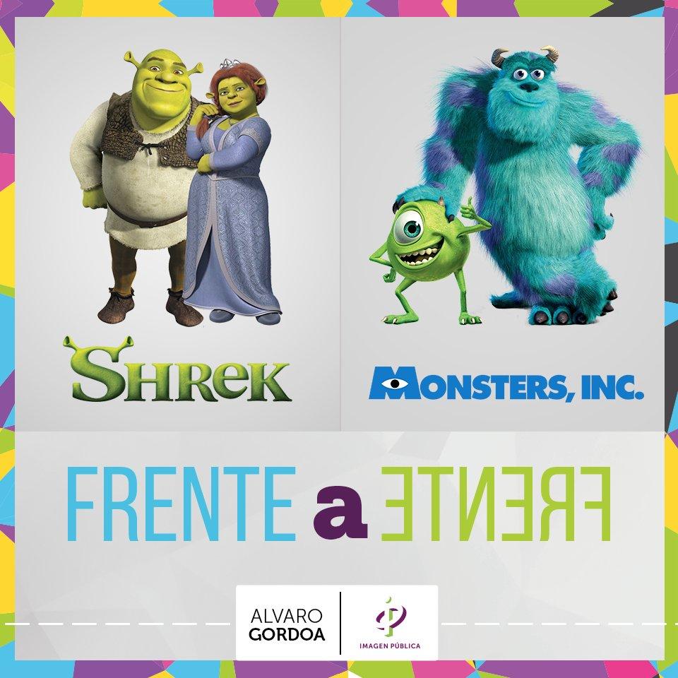 ¿Qué película crees que fue mejor percibida? Shrek o Monsters Inc. htt...