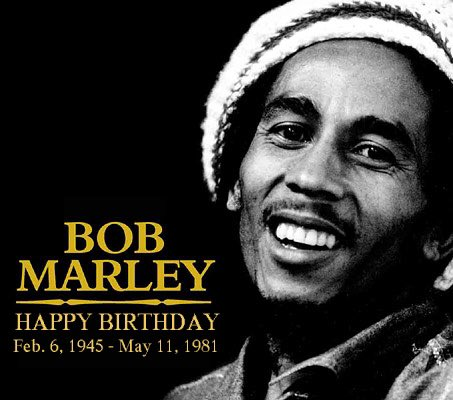 He would\ve been 72 today. Happy Heavenly Birthday Bob Marley