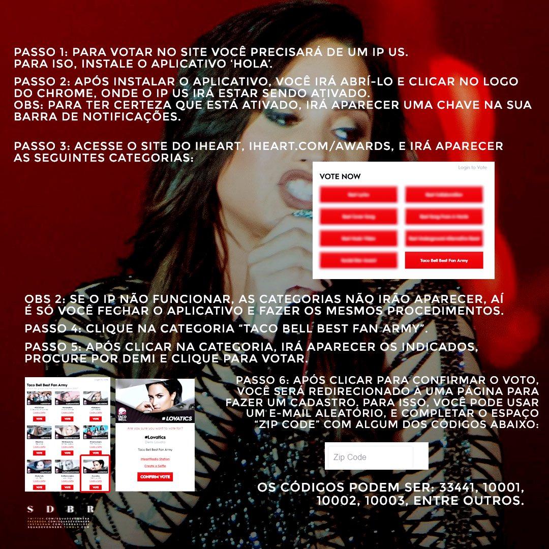 Demi Lovato Brasil On Twitter Tutorial De Como Votar Pelo Site - Que es us zip code