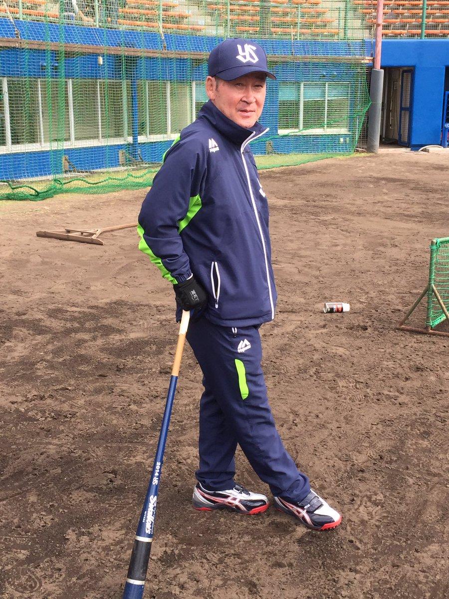 元祖ミスタースワローズ若松勉氏 今年も臨時コーチです。
