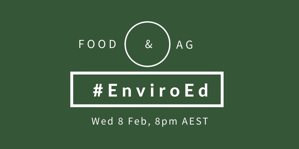 Thumbnail for Twitter Chat on #EnviroEd Food & Agriculture 02/08/17