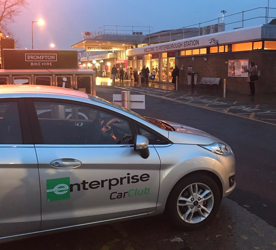 Enterprise Car Club On Twitter Travelling To Peterborough Station