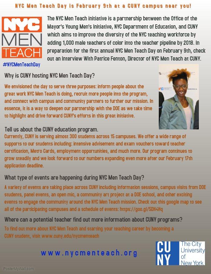 Nyc Men Teach On Twitter Nycmenteachday Is Thur Feb 9th Meet