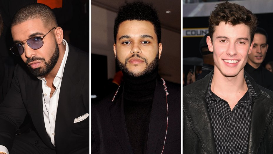 .@TheJUNOAwards: @Drake, @TheWeeknd and @ShawnMendes lead with 5 noms each   #JUNOS
