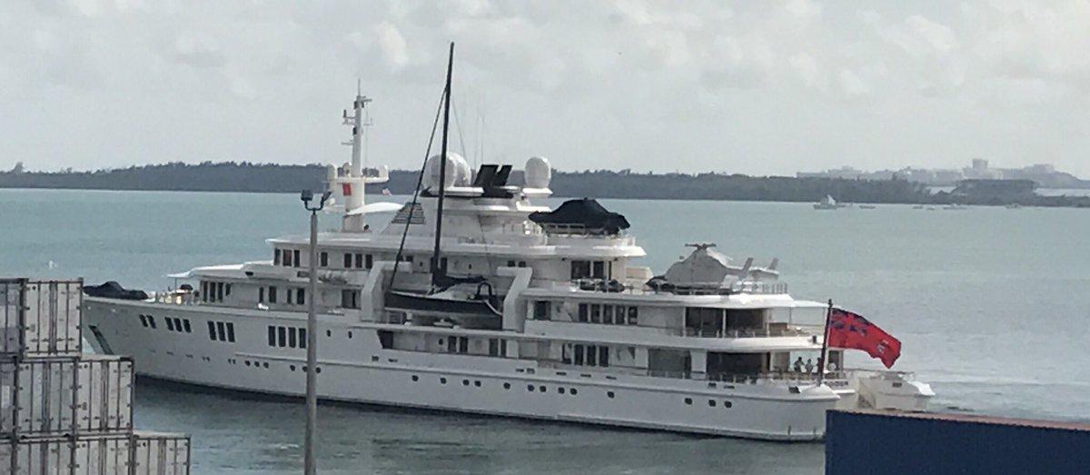"James Van Fleet в Twitter: ""Gorgeous yacht #Tatoosh in @PortMiami yesterday, owned by @Microsoft co-founder @PaulGAllen… """