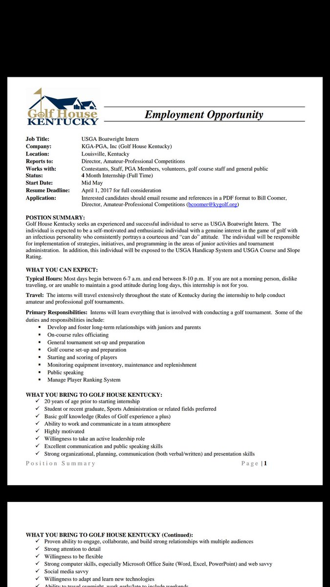 christopher ott ottprime twitter heads up smgt internship opportunity in kentucky the golfhousekentucky pic com vflszdx5ys