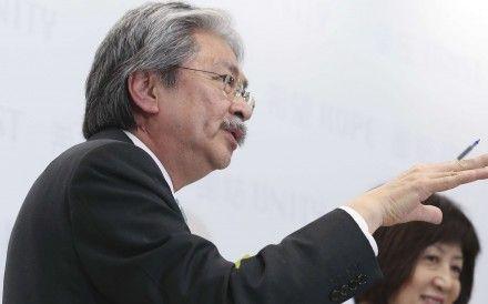 HK chief executive hopeful John Tsang takes early lead in 'civil referendum' poll