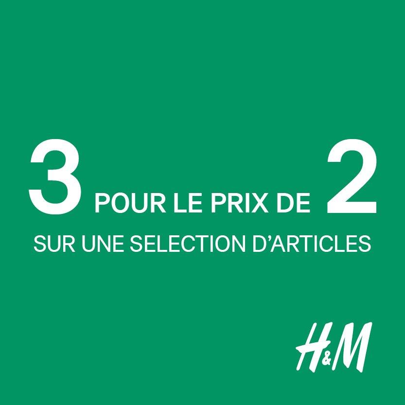 3 pour le prix de 2 chez H&amp;M kids sur une sélection d&#39;articles .Rafraichissez la garde-robe de vos petits pour cette nouvelle saison #hmkids <br>http://pic.twitter.com/2yjSTaszsR