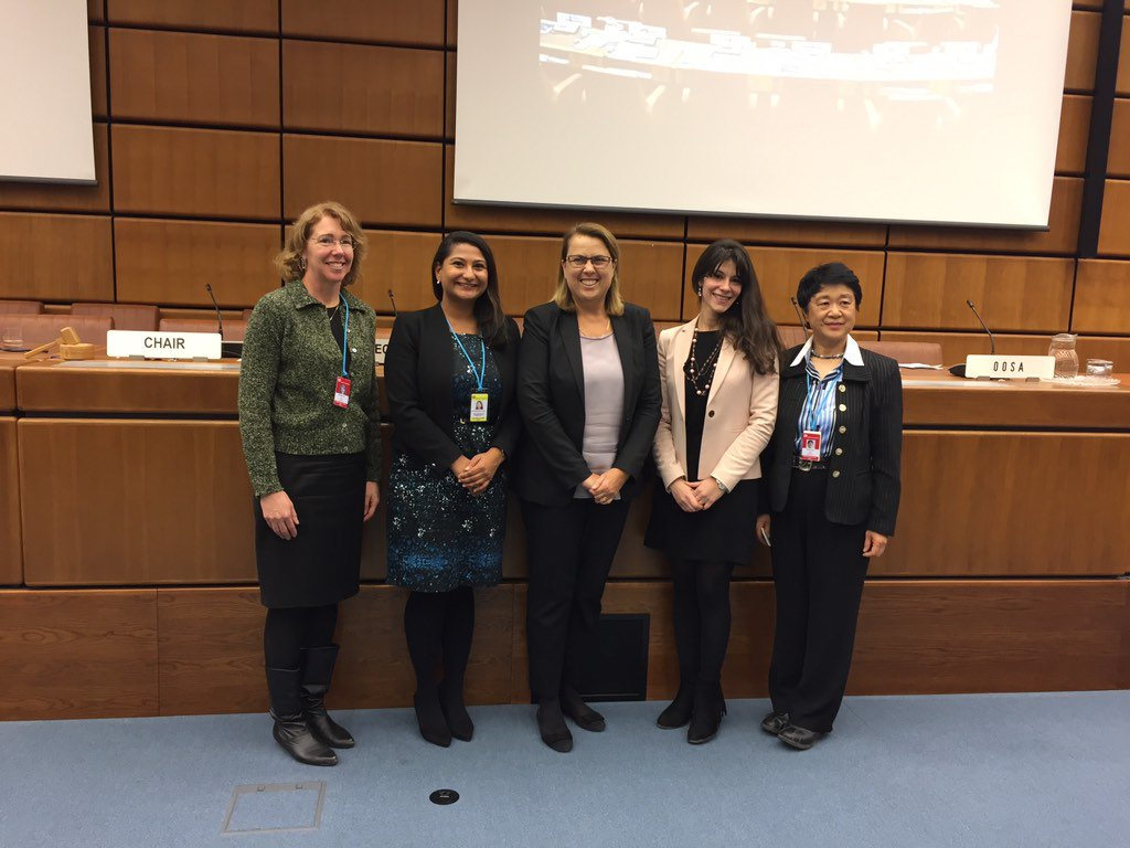 "The ""Women in Space"" panelists sponsored by UN-OOSA. Discussed how to get more girls engaged globally in space. https://t.co/I7zxZIATl4"