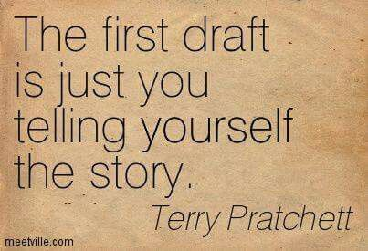 """The first draft is just telling yourself the story."" #GoodAdvice #JustWrite https://t.co/olI69ItBjX"