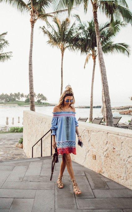 Off The Shoulder Beach Dress