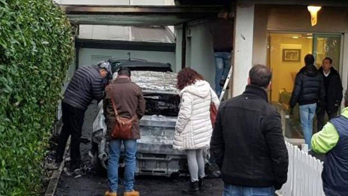 Bruciano 2 auto del presidente del Pescara Calcio Daniele Sebastiani