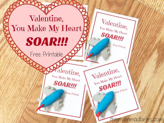 Valentine You Make My Heart SOAR -- FREE Printable!