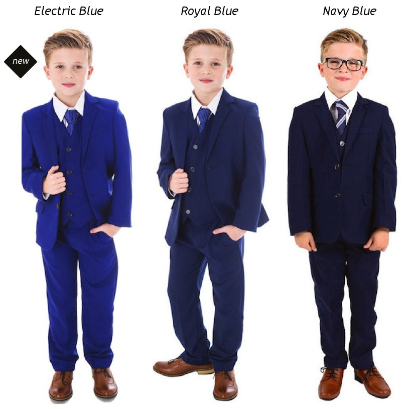 e1523e427a Boys 5 Piece Wedding Suits available in Electric Blue, Royal Blue & Navy  Blue #Suits #wedding #pageboy ...