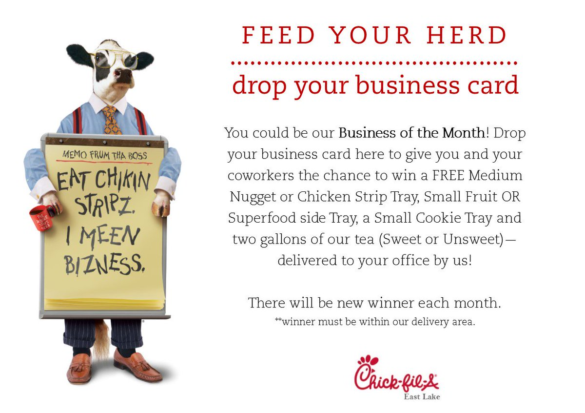 Chick-fil-A EastLake on Twitter: \
