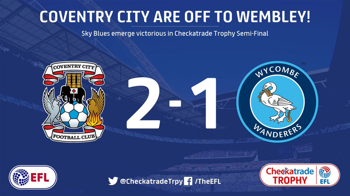 They've done it!  @Coventry_City are heading to the #CheckatradeTrophy...