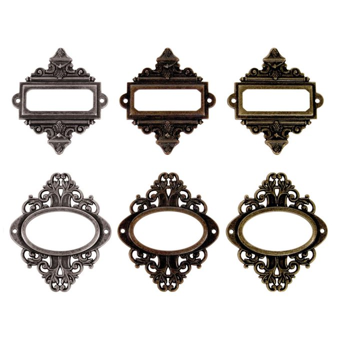 Ornate Plates with Fasteners (6pc)
