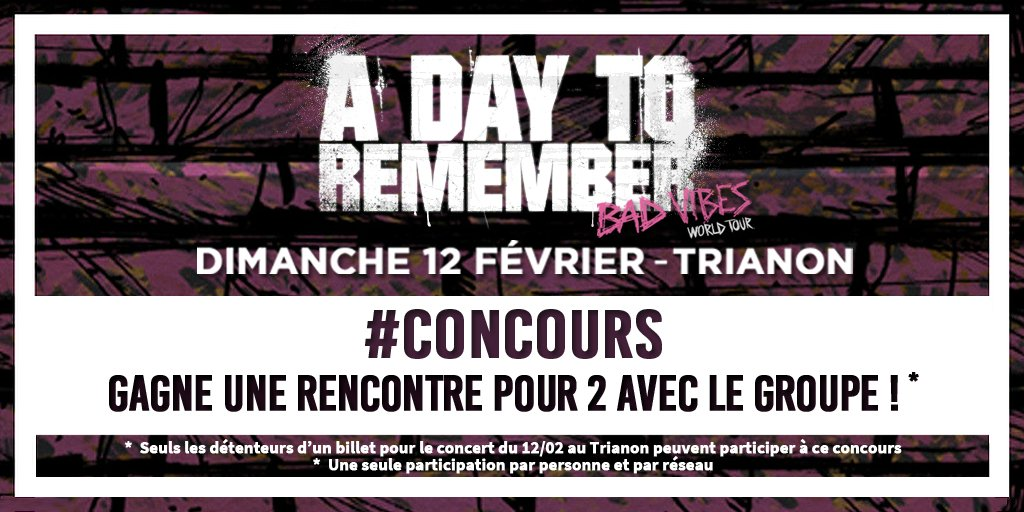Concour rencontre one direction 2017